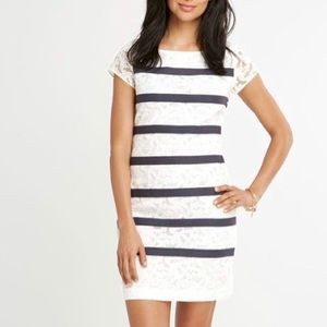 VINEYARD VINES Anchor Lace Shift Dress IVORY 0